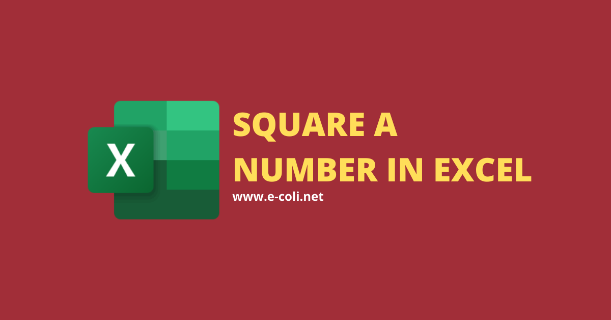 Square-a-Number-in-Excel